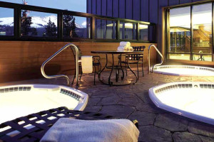 DoubleTree Hilton indoor hot tubs at Breckenridge Discount Lodge.