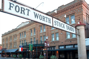 Exterior view of Stockyards Hotel.