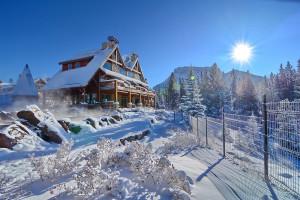 Winter time at Hidden Ridge Resort.