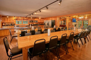 Group accommodations at Timber Tops Luxury Cabin Rentals.