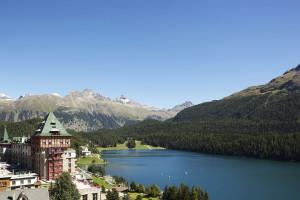 Exterior view of Badrutt's Palace St. Moritz.