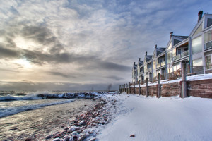 Exterior view at Bluefin Bay on Lake Superior.