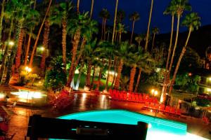 Outdoor pool at Caliente Tropics Resort.