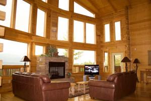 Rental living room at Cobbly Nob Rentals.