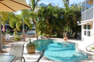 Outdoor pool at Manatee Bay Inn.