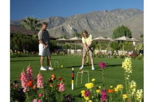 Croquet at Smoke Tree Ranch.