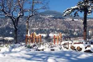 Winter time at Vagabond Lodge.