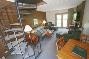 Cabin interior at Ruttger's Bay Lake Lodge