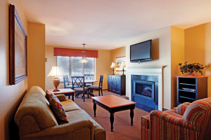Guest living room at Holiday Inn Club Vacations at Ascutney Mountain Resort.
