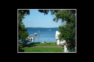 Lake view at Reel Livin' Resort.