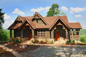 Rental exterior at Railey Mountain Lake Vacations.