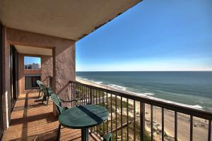 Balcony view at Beach Colony.
