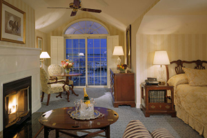 Suite interior at Saybrook Point Inn.
