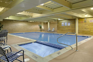 Indoor Pool at the Ramada Plaza Hotel Ojibway
