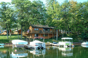 Cabin exterior at Clear Lake Resort.