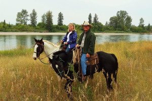 Horseback riding at Gentry River Ranch.