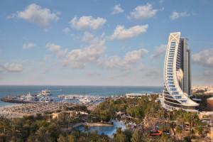 Exterior view of The Jumeirah Beach Hotel.