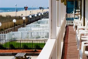 Balcony view at Seabonay Motel Ocean City.
