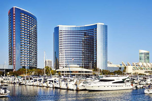 Exterior view of San Diego Marriott Marquis & Marina.