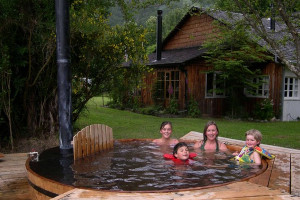 Hot tub at Posada de los Farios.
