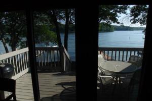 Deck view at Kavanaugh's Sylvan Lake Resort.