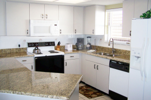 Rental kitchen at Gulf Strand Resort.