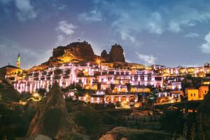 Exterior view of CCR Cappadocia Cave Resort.
