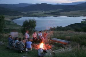 Bonfire at The Bella Vista Estate.
