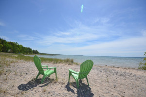 Lake view at Visit Up North Vacation Rentals.