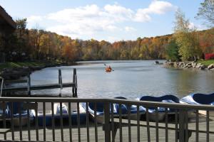 Lake view at Rocking Horse Ranch Resort.