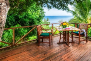 Deck view at Maravu Plantation Beach Resort & Spa.