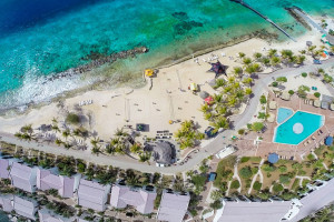 Aerial view of Plaza Resort Bonaire.