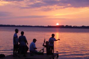 Fishing at Minnesota's Sunset Shores Resort.