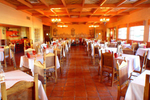 Dining room at Rancho De Los Caballeros.