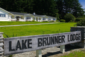 Exterior view of Lake Brunner Lodge.