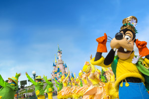 Disney parade at Disneyland Resort Paris.