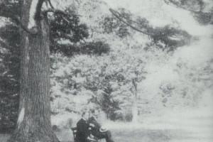Historic photo of President William McKinley at Bluff Point Golf Resort.