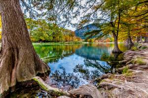 Lake near La Cantera Hill Country Resort.