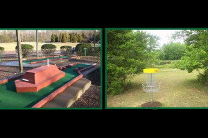 Frisbee and mini golf at Wilderness Presidential Resorts.