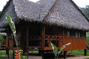 Exterior view of Amazon ExplorNapo Lodge.