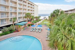 Exterior view of Hilton Garden Inn Orange Beach Beachfront.