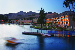 Exterior view of Campbell's Resort on Lake Chelan.