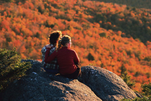 Fall colors at Stoweflake Mountain Resort & Spa.