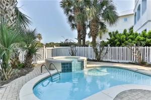 Rental pool at Holiday Isle Properties.