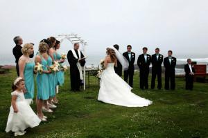 Outdoor wedding at Adobe Resort.