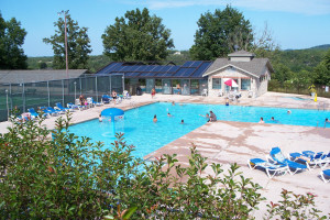 Outdoor pool at Pointe Royale.