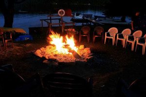 Bonfire at Ogopogo Resort.