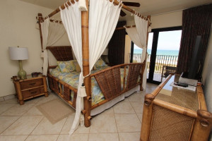 Rental bedroom at Seabreeze 1.