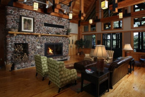 Eagle Lodge Hotel lobby at Heartwood Conference Center & Retreat.