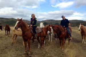 Horseback riding at Neal's Lodges.